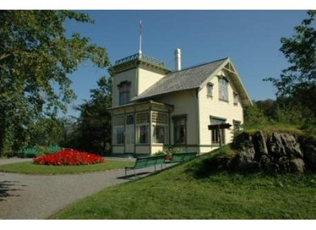 The home of the composer Edvard Grieg, 18 minutes away