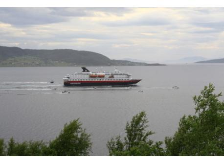 """Hurtigruten"" passes our house 2 times a day"