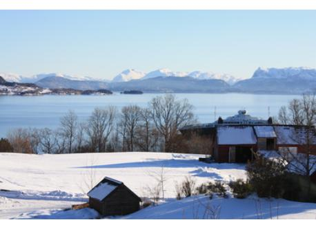 A wonderful winther landscape seen from our house.