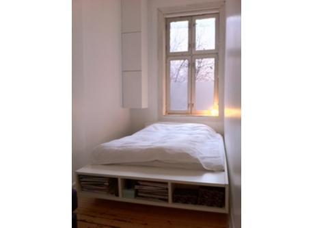Bedroom facing the quiet back yard