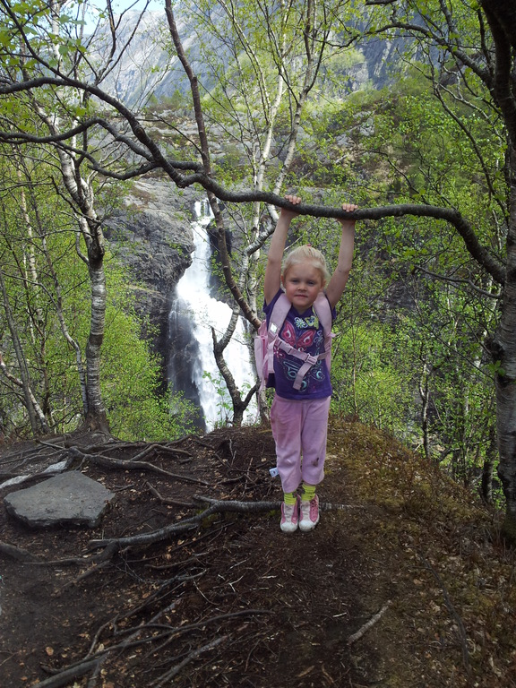 Hike at Monafossen. Waterfall 45 min. drive from our house.