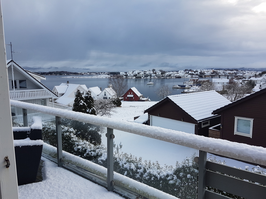 Sometimes we have the luck to get snow even in Stavanger.