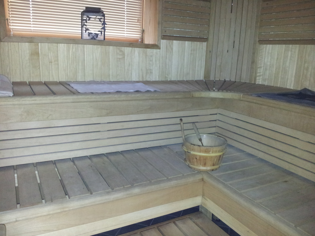 Our pure Finnish sauna.
