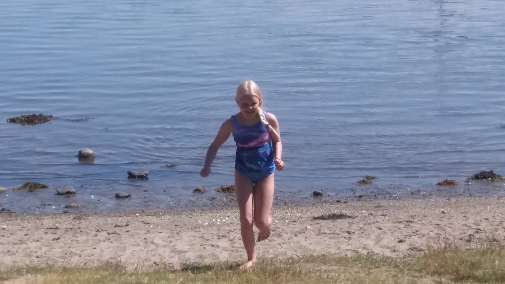 Nearest sandbeach 100 m from our house. Water is cold but children loves to swim here at summertime.