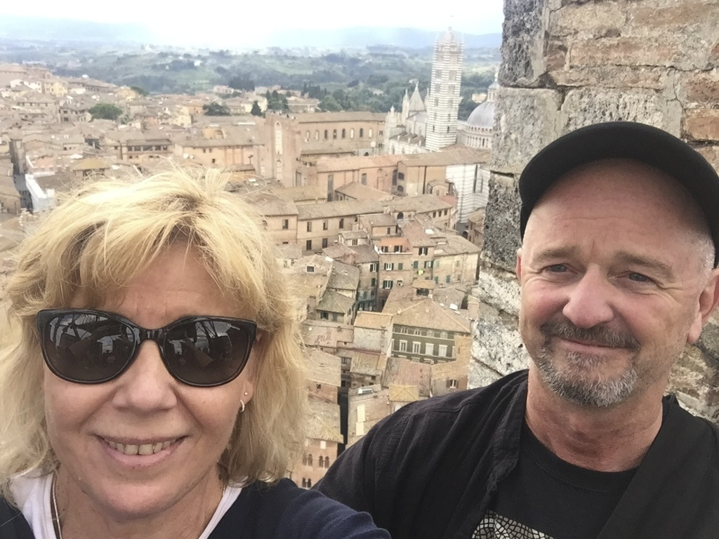 Karin and Kjell in Tuscany this autumn