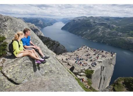 Preikestolen is the no. 1 tourist attraction in the Stavanger region and offers a breathtaking view of Lysefjorden. Preikesto...