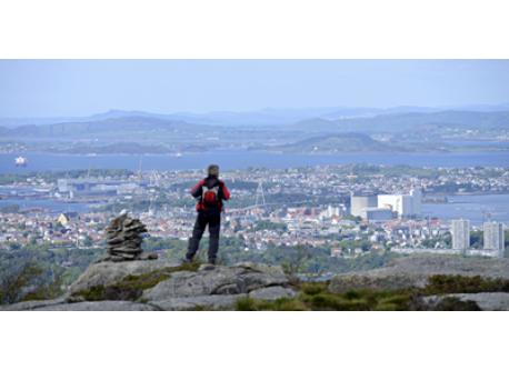View of Stavanger from Dalsnuten, which is an easy 1-hour hike. The trailhead is about 10 -15 by car from the house
