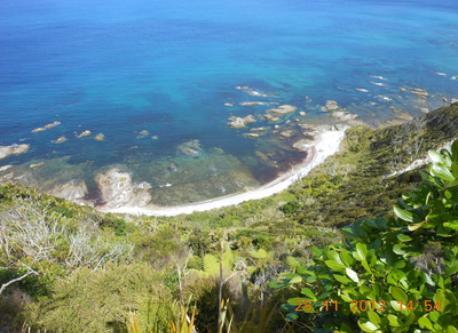 beach along cliff walk
