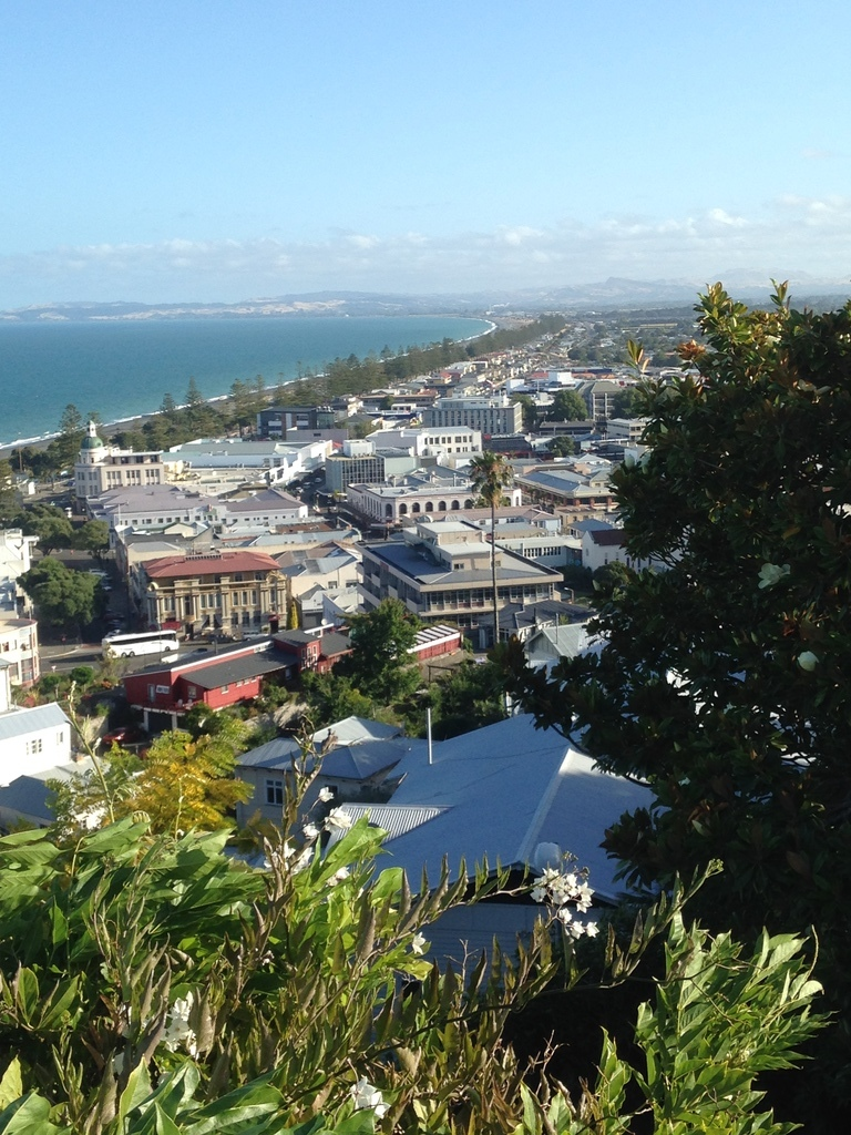 Napier city looking towards Cape Kidnappers