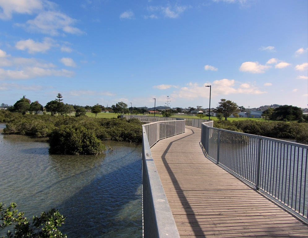 Part of the long walking/bike-riding path around the Estuary.