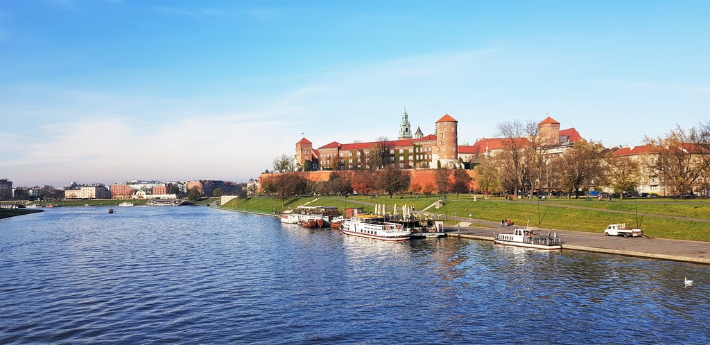 Krakow is situated on theVistula River