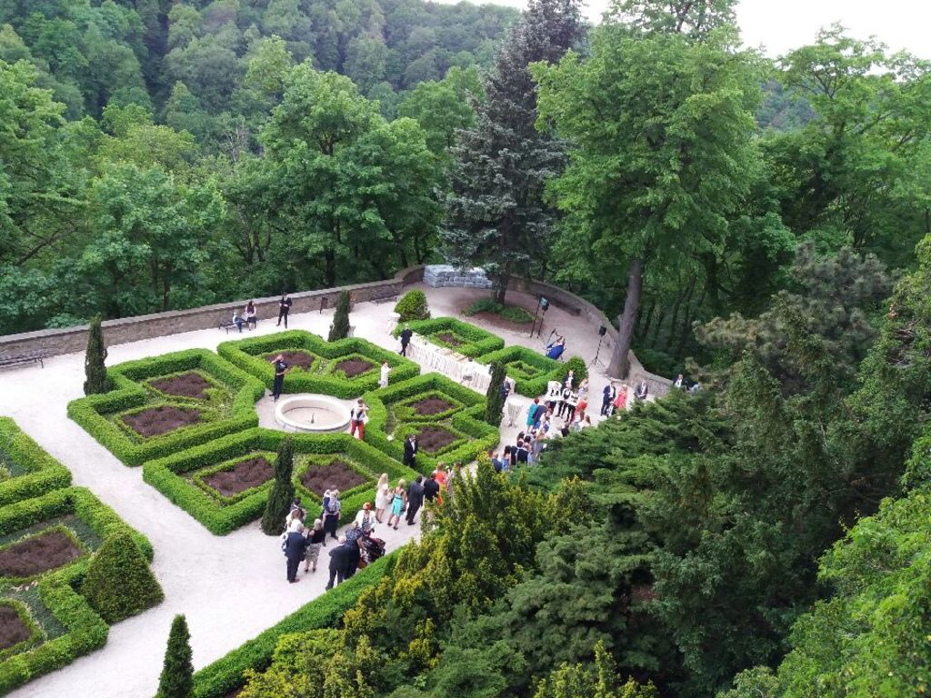 Castle gardens - Książ.