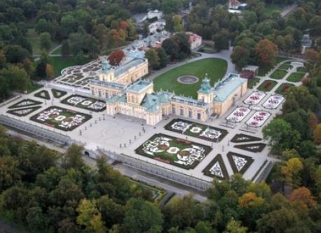 Wilanów castle and park