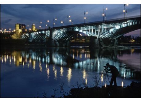 by Vistula river