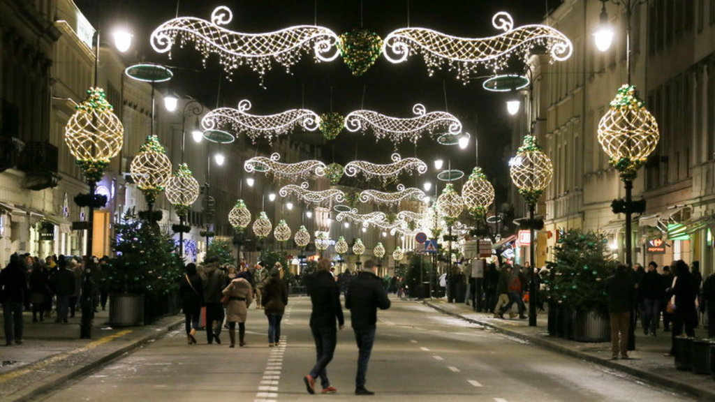 Warsaw during Christmas/New Year Season
