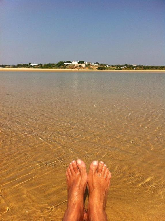 Our feet , the sea and Cacela Velha on the horizon...What else?