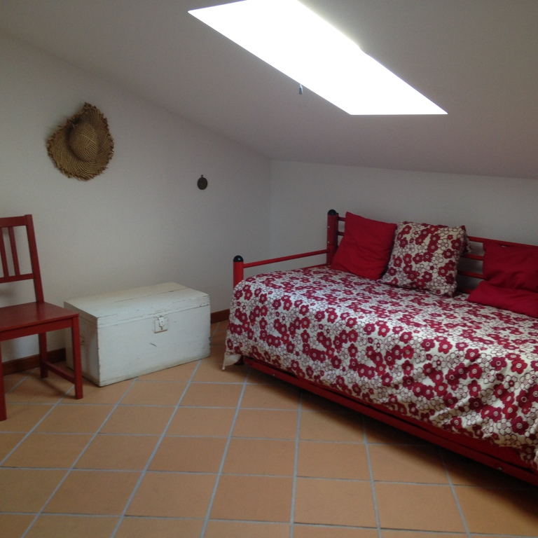Second room with single bed, upstairs in the loft.