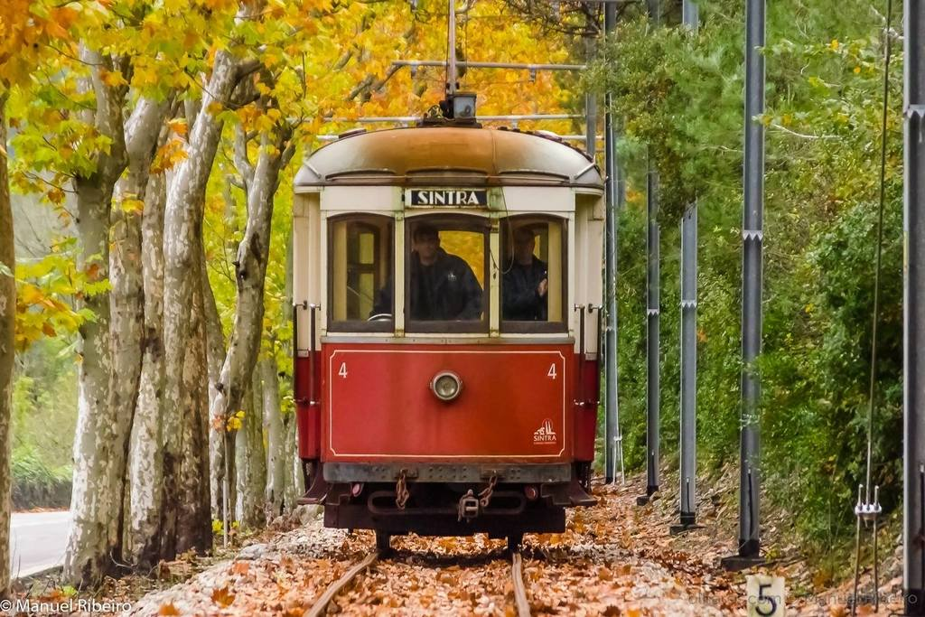 Sintra tram uses classic 1930 brill trams, which slowly trundle down 13 km from Sintra to pretty coastal town Praia das Maçãs.