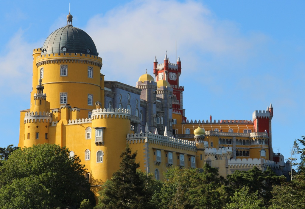 Sintra Pena Palace, the most eccentric product of the imagination of Ferdinand of Saxe-Coburg-Gotha.