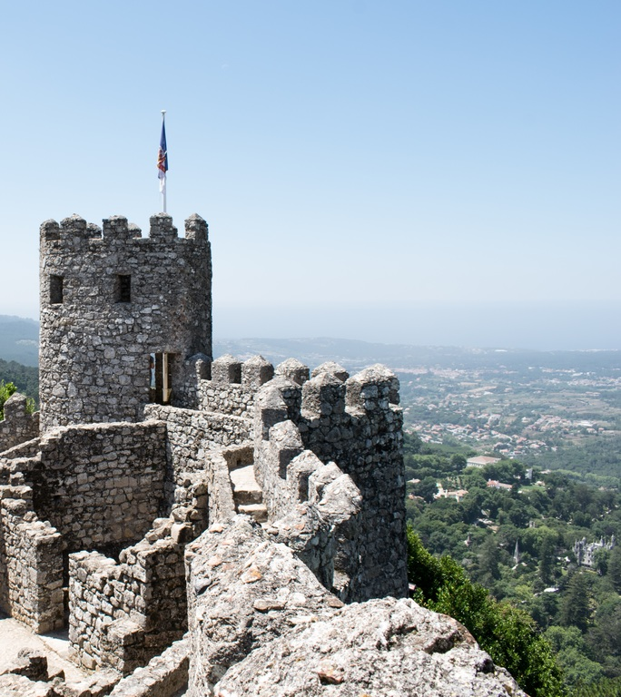 The Castle of the Moors, crowns the hills above Sintra