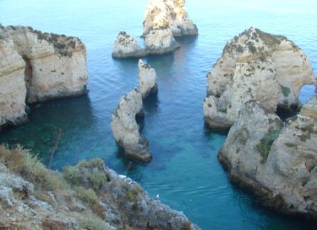 The beautiful coast of the Algarve