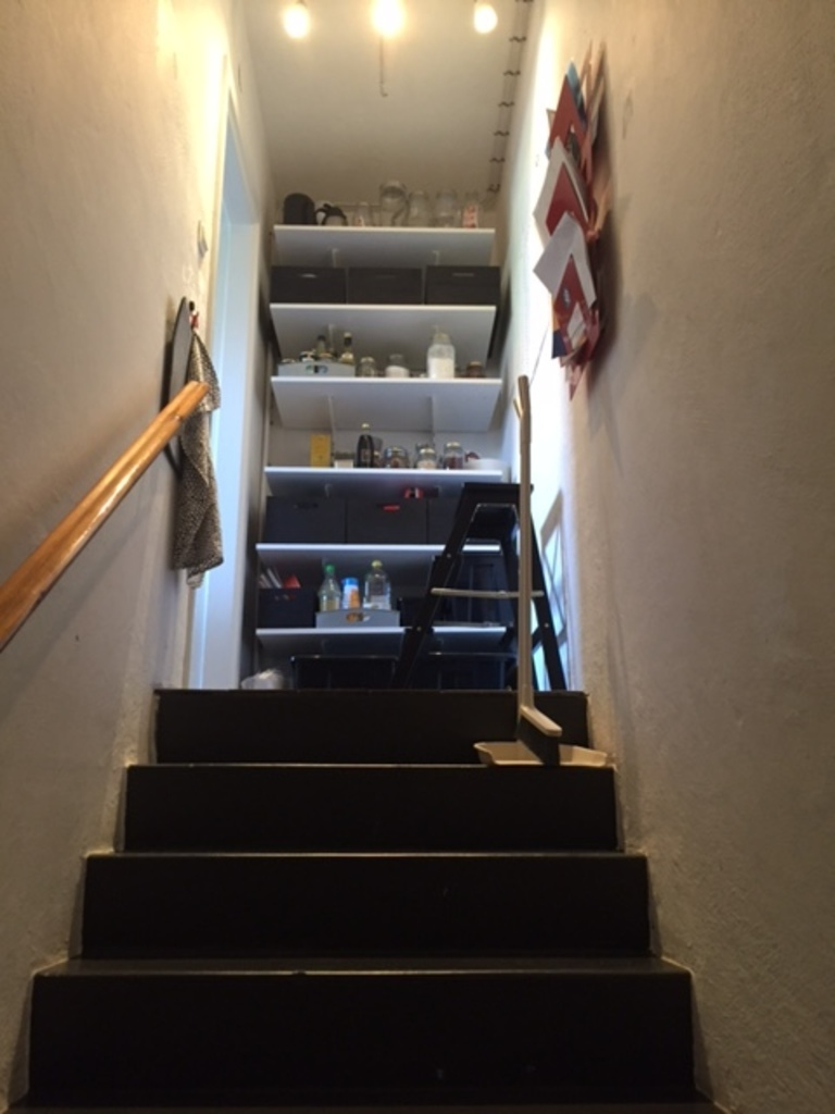 stairs up from the basement