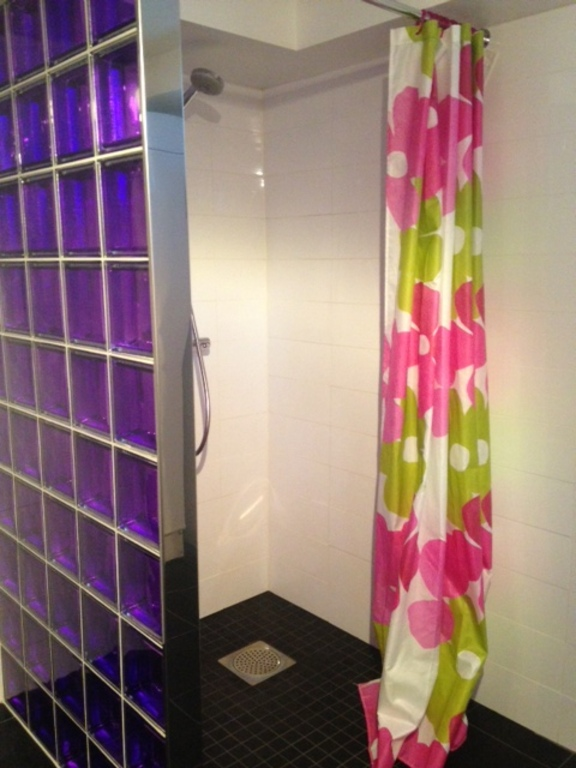 Shower in laundry room