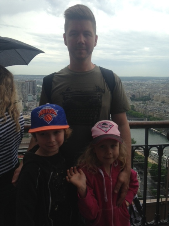 On top of the Eiffel Tower, June 2014