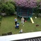 The private garden with our big trampoline.