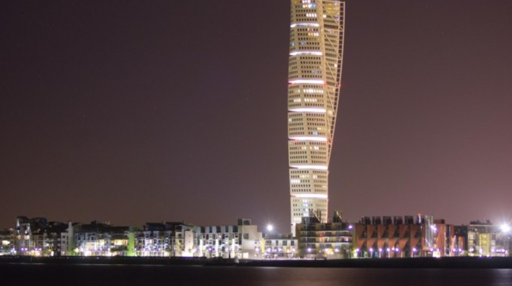 Famous Turning Torso in Malmö.