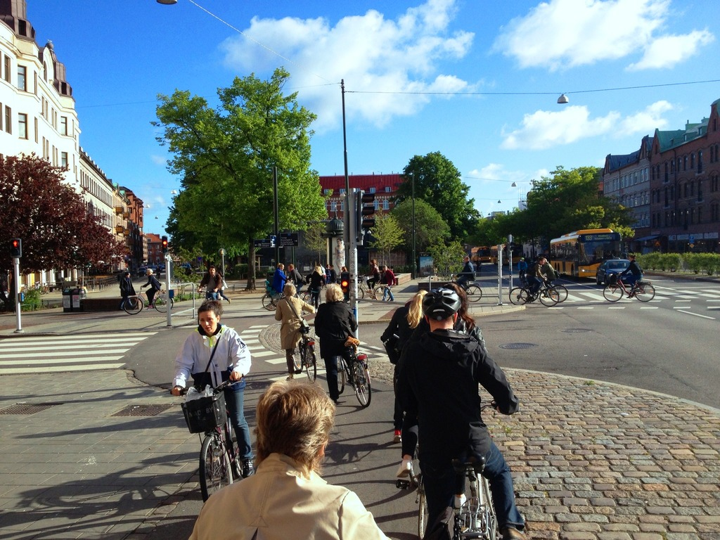 In Malmö it's easy and safe to go by bike.