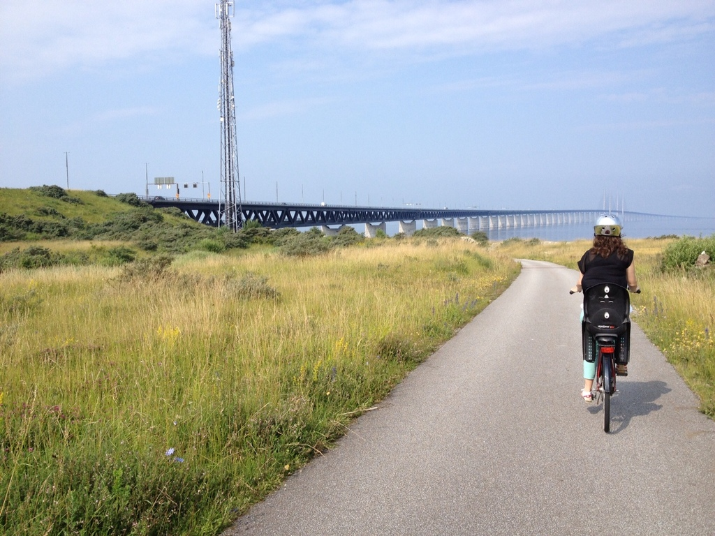 The sea side and bridge to Copenhagen close by.