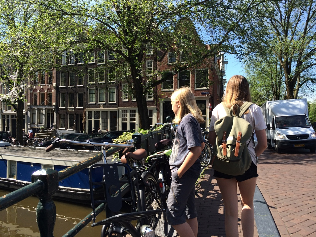 Exploring Amsterdam during our exchange in the Netherlands summer 2017.