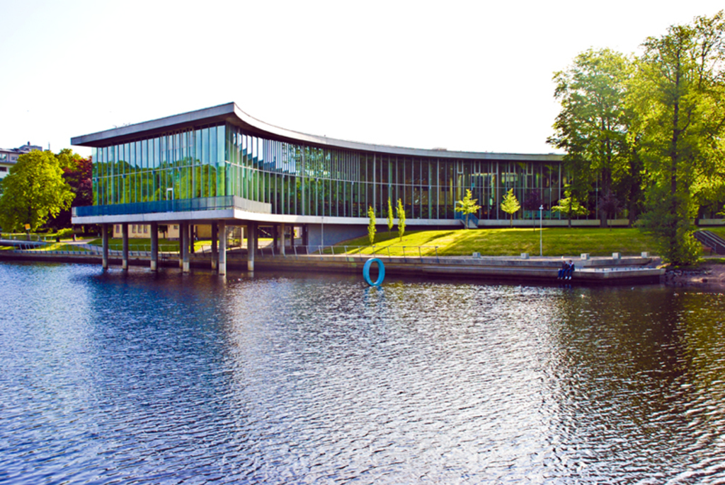 Halmstad library. In the new library you also find Halmstad Arthall and a café.