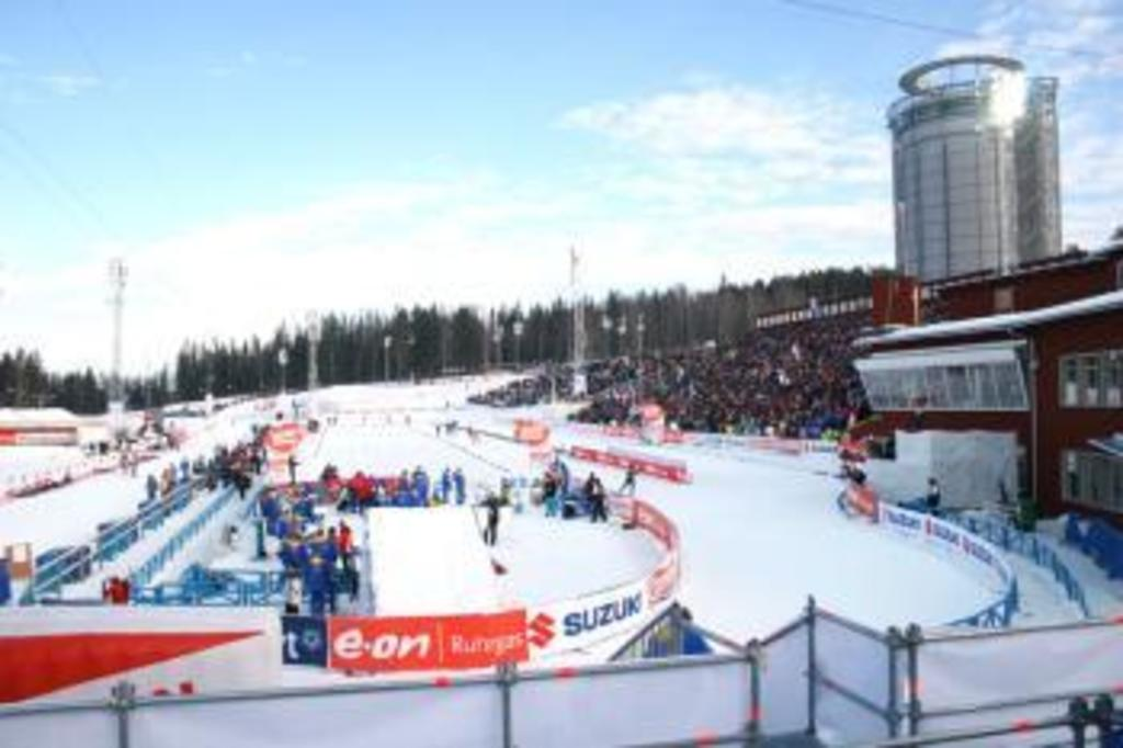 The Swedish National Biathlon stadium, 400 m away from our house
