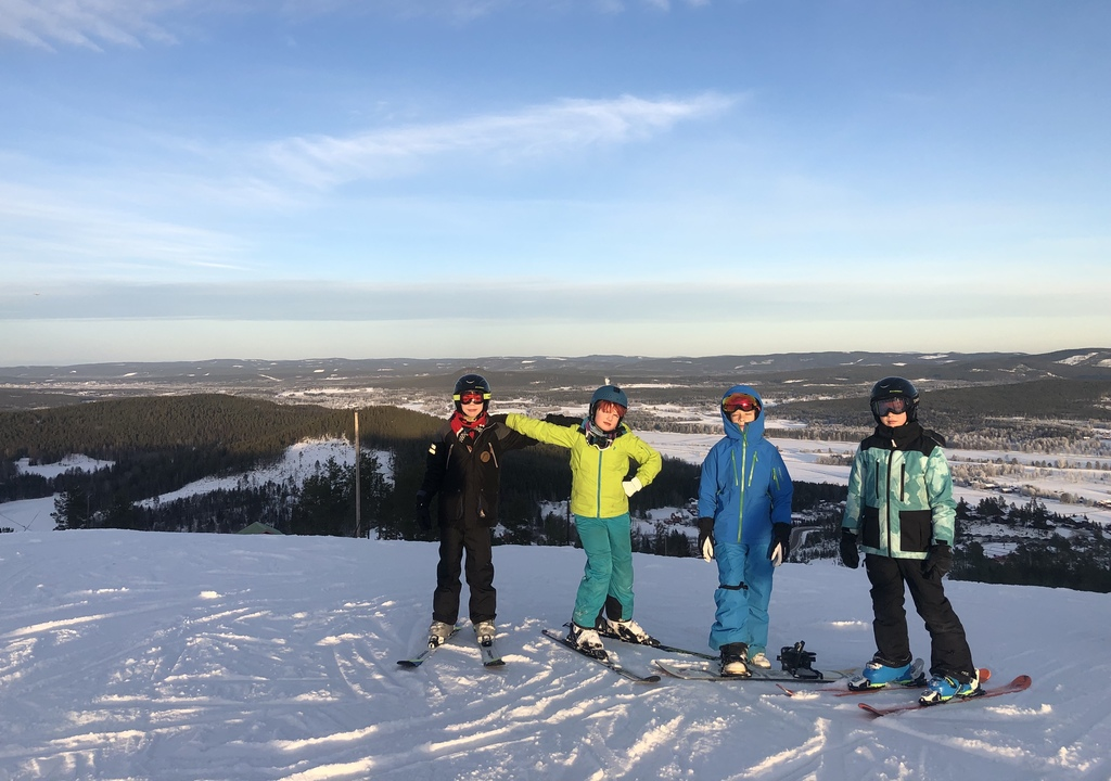 Skiing in Järvsö (5 km from our house)