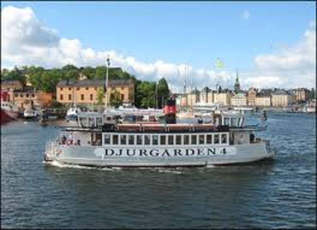Commuter boats in Stockholm city