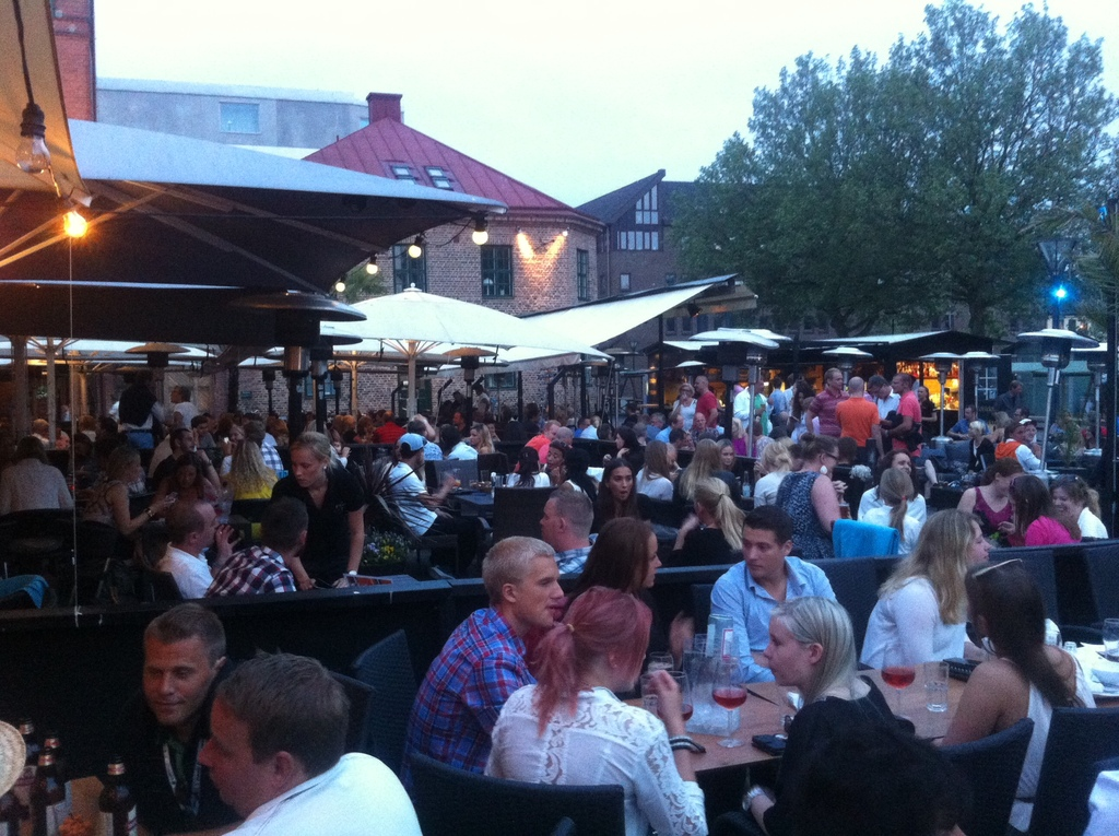 Many nice restaurants in Halmstad