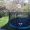 Trampoline in the backyard