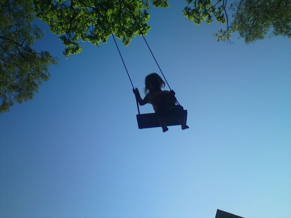 13 m swing in the backyard