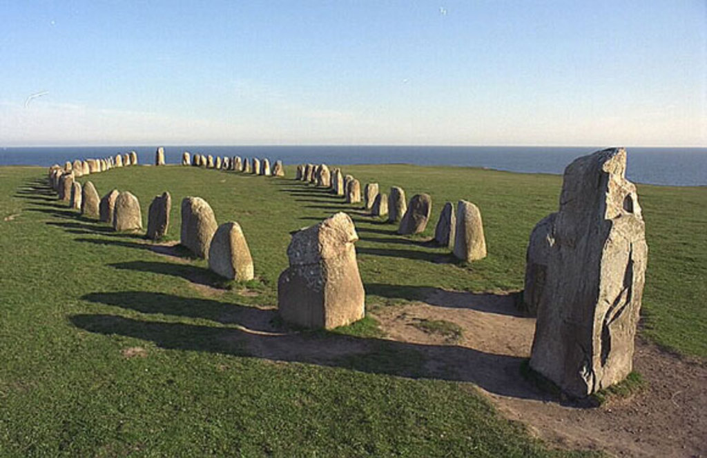 Ale Stenar (65 km)  –  Sweden's best-preserved ship tumulus, made up of 59 standing stones 1,400 years ago.