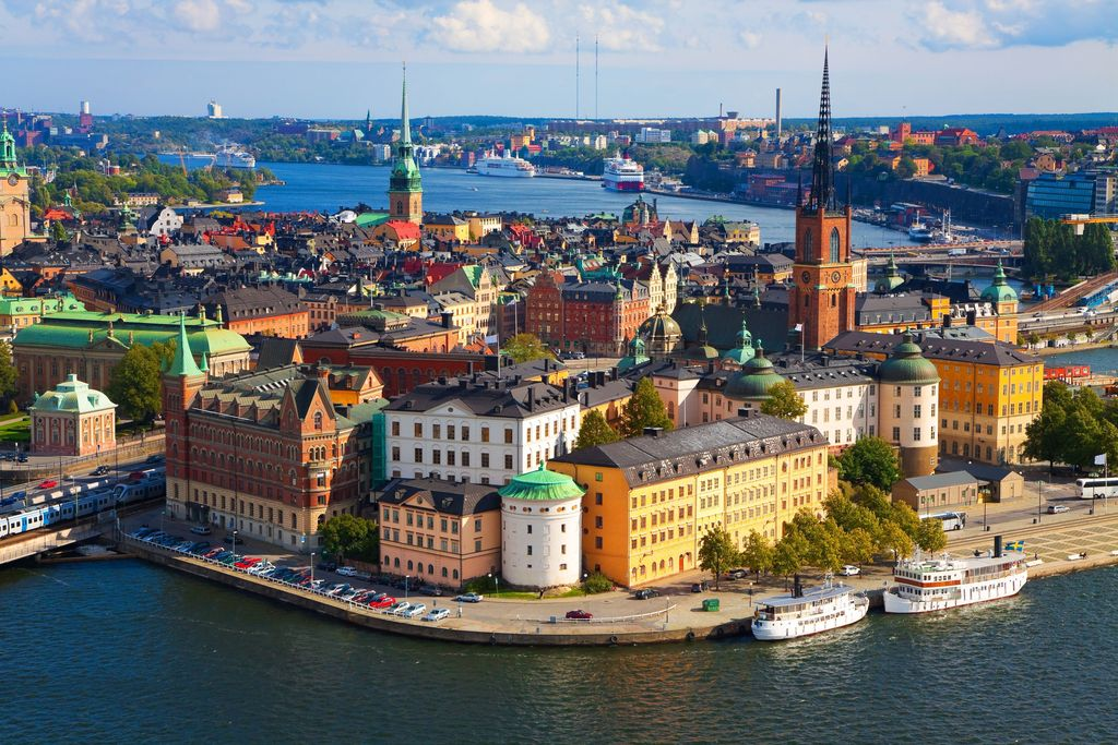 The island of Old Town in Stockholm