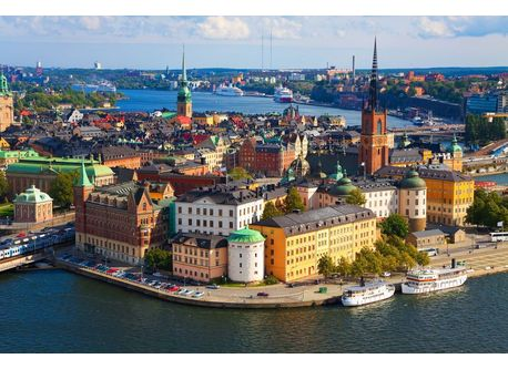 The island of Old Town (Gamla stan) in Stockholm