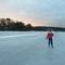 Drevviken in wintertime, proper for skating or skiing