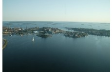 Karlskrona Archipelago, the city on islands, picture taken from north