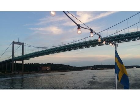 Älvsborgs bridge, view from Gothenburg harbor
