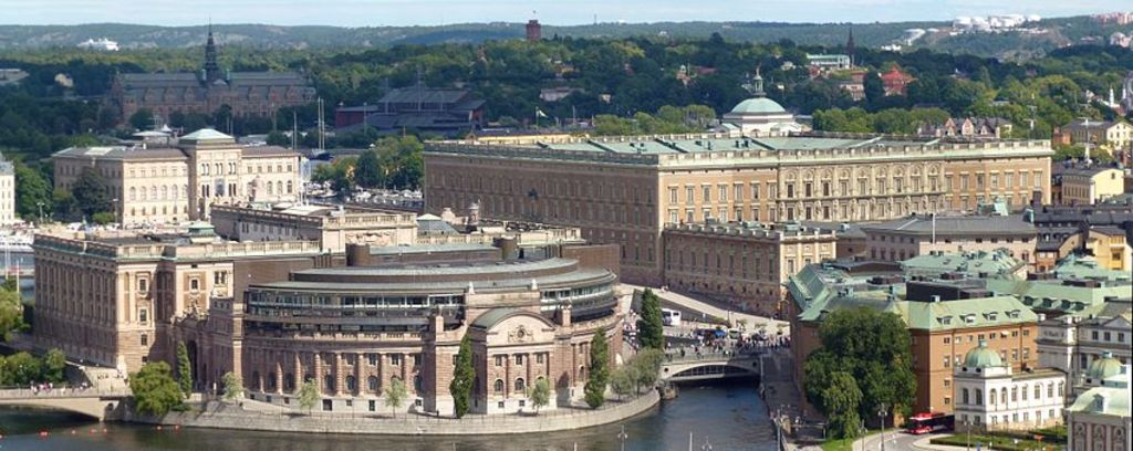 Stockholm castle and government building