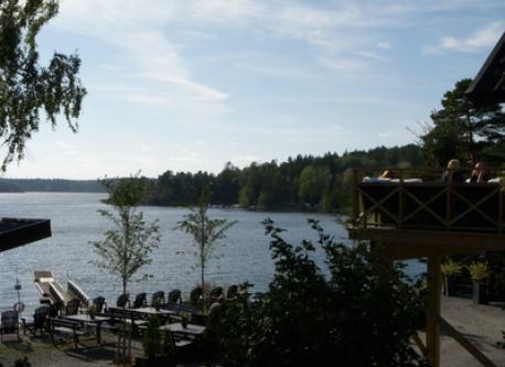 Grisslinge - beach, café Systrarna Delzelius and restaurant Bistraud