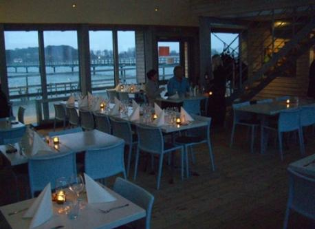 "Inside The Restaurant at ""Långa Bryggan"" (The Long Pier)"