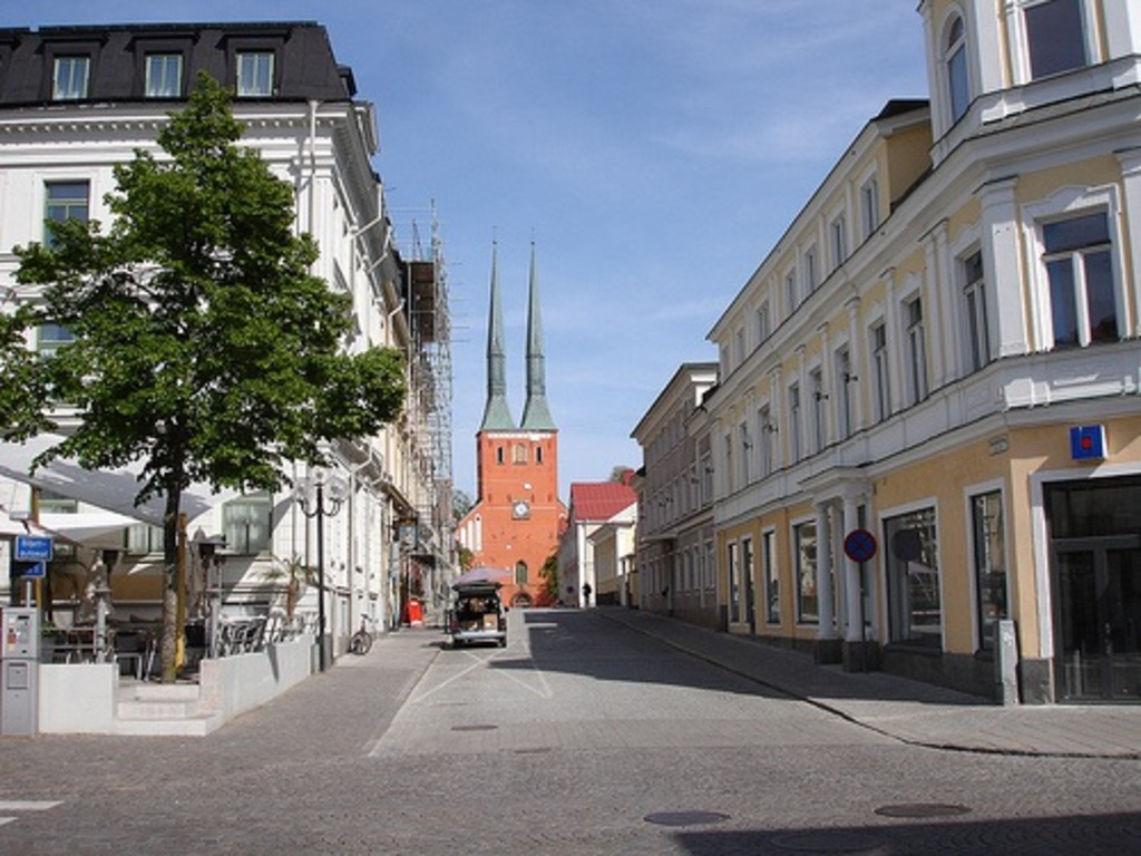 Växjö city centre and cathedral